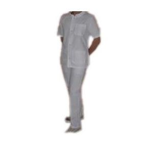 Ambo Blanco Arciel Con Chaqueta Cuello Mao (enfermería)
