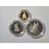 Estados Unidos Set 3 Monedas 1 De Oro Con Certificado Y Estu
