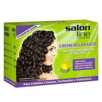 Kit Creme Relaxante Cachos Definidos E Soltos Salon Line