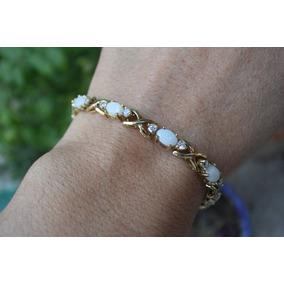 Brazalete De Opalo Y Diamantitos