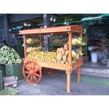 Carreta Exhibidor Para Frutas, Flores,dulces Y Mas .
