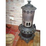 Estufa Antigua De Hierro Labrada A Kerosene