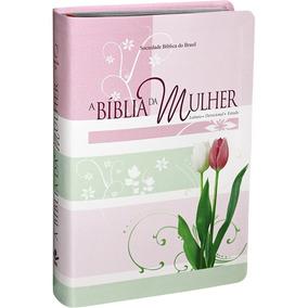 Bíblia Da Mulher De Estudo Média Tulipa Revista Atualizada