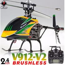 Helicoptero V912 Motor Brushless Wltoys 4ch C/ Bateria Lipo