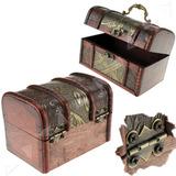 Caja De Madera Tipo Cofre O Baul - 21 X 16 X 16 Cm Souvenir