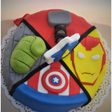 Torta Cumpleaños Infantiles Decorada Los Vengadores Avengers