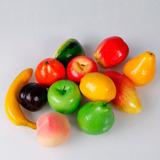 Pacote 12 Frutas Artificiais - Decoração Lanchonetes Sucos