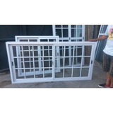 Ventana Aluminio Blanco V4mm 150x110 Vidrio Repartido