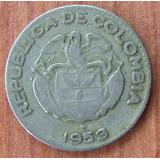 Moneda Colombia 10 Centavos Calarca 1953 B # 27
