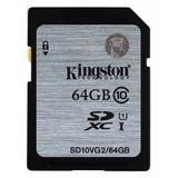 Cartão Memoria Sdxc Kingston 64gb 45mb/s Classe 10 Full Hd