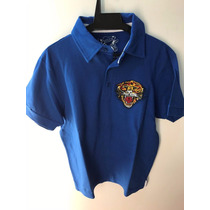 Camisa Polo Ed Hardy Azul Royal Christian Audigier Masculina