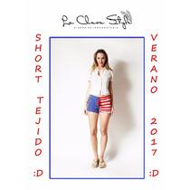 Short Tejido Crochet Con Encaje Ideal Playa Verano