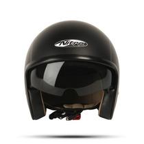 Casco Nitro X581 Abierto Negro Blanco Chooper En Fas Motos
