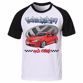 Camiseta Masculina Raglan Estampada Carros Gol G5 Volkswagen