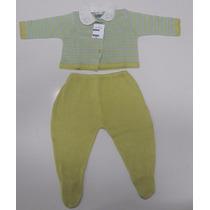 Conjunto Infantil Linho Fino- Verde E Azul- Buá