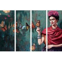Cuadro Cuatro Partes Frida Kahlo Arte Decoración