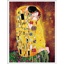 Lienzo Tela, El Beso, Gustav Klimt, 64x84 Cm