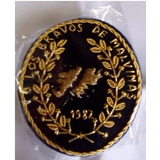 Parche A Los Bravos En Malvinas - Artesanal Hilo De Oro