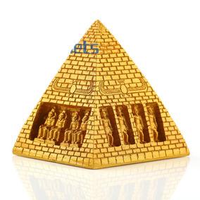 Enfeite Para Aquário Piramide Gize Faraós Dourada Egito
