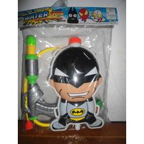 Lanzador O Pistola De Agua Con Tanque De Super Heroes