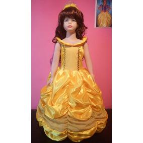 vestido disfraz princesa bella y bestia disney