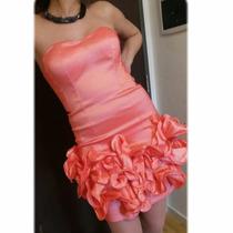 Vestido De Diseño Exclusivo Corto Straples Corset 15 Años