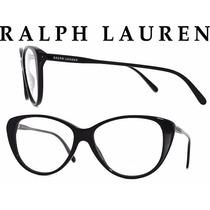 Lindo Oculos Grau Ralph Lauren Rl6083 Preto Original Gatinho