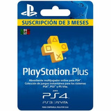 Ps Plus Membresia 3 Meses Psn Card Plus Ps3/ps4 Mex