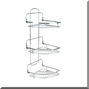 Set Rack Organizador Baño 3 Estantes Rebatible Metalico