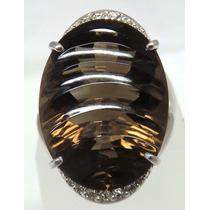 Pocao2005- Anel Ouro Branco 18k750 Diamante Grife Vivara 714