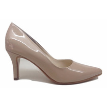Natacha Zapato Mujer Stiletto En Punta Charol Nude #773