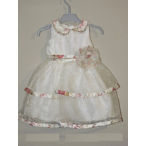 Petit Cherie Vestido Infantil De Festa Off White Organza
