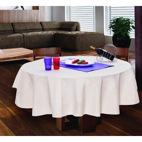 Mantel Redondo Grande Ecocuero Liso 1,80m Cuerina Antimancha