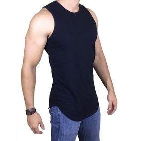 Camiseta Regata Oversized Swag Masculina Longline Rosemary