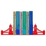 Suporte Aparador De Livros Dvd Cd Ponte De Londres 2 Cores