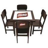 Conjunto Mesa 80x80 Azulejo Com 4 Cadeiras