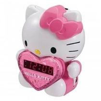 Hello Kitty Am / Fm Alarma Proyección Radio Reloj Con Baterí