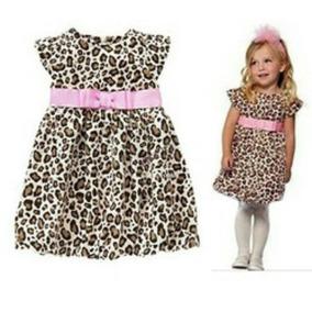 Vestido Importado Animal Print Con Lazo Rosa Y Ropa Gap Polo