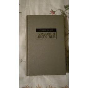 Libro Formulario De Juicios Civiles, Eduardo Pallares.