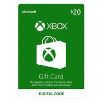 Cartão Xbox Live Americana $20 Dólares - Loja Oficial