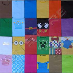 50 Sacola Papel Colorida 25x17x6cm Bolsa Festa Lembrancinha