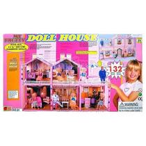 Casa Para Bonecas Barbie My Pretty Doll House 132 Itens