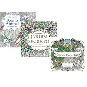 Kit Livros De Colorir E Caça Ao Tesouro Antiestresse