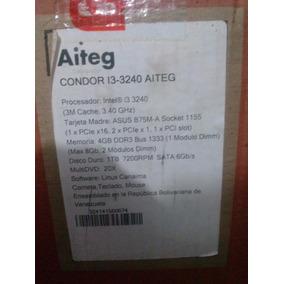 Computador I3 Procesador 3.40 4 G Dd 1t U/dvd