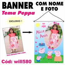 Banner Painel Digital Impresso Festa Porca Peppa Pig Will580