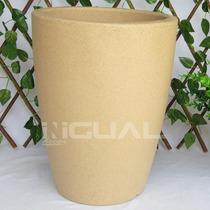 Vaso Para Plantas Malta Cone 30x40cm Granito Areia Vasart