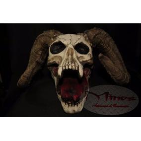 Cráneo Demonio Cuernos De Chivo