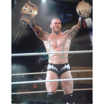 Poster Autografiado Randy Orton Wwe The Viper Wrestlemania
