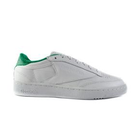 Tenis Reebok Classic C85 - Blanco Con Verde V69645