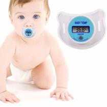 Termometro Digital En Forma De Chupon Para El Bebe Rosa Azul